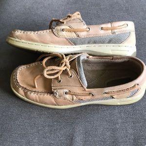 4/$25 Maui Island leather boat shoes